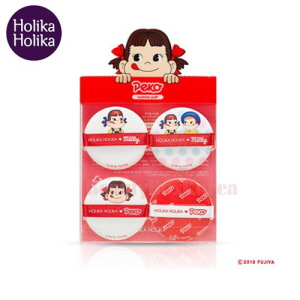 HOLIKA HOLIKA Hard Cover Cushion Puff 4ea [Sweet Peko Edition],HOLIKAHOLIKA
